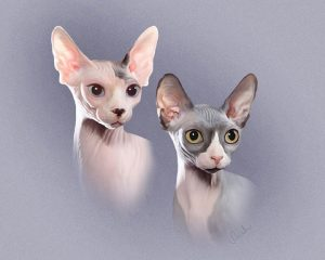 sphynx-cats-painting-lge